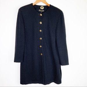 St. John Basics Knit Jacket Size Large Black